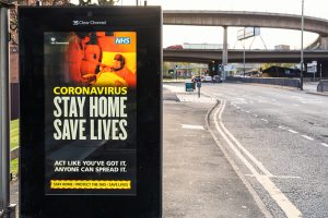 Coronavirus government poster – Stay home, save lives
