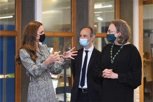 The Duchess of Cambridge , Pasco Fearon and Alissa Goodman talking